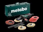 Metabo kotni brusilnik z zoženim vratom WEVF 10-125 Quick Inox SET